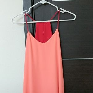 Express Coral Red Reversible Tank Size Small